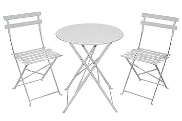 Bistro Set Balkon Set Metall Garten Tisch Gartenmöbel Set Klappbar