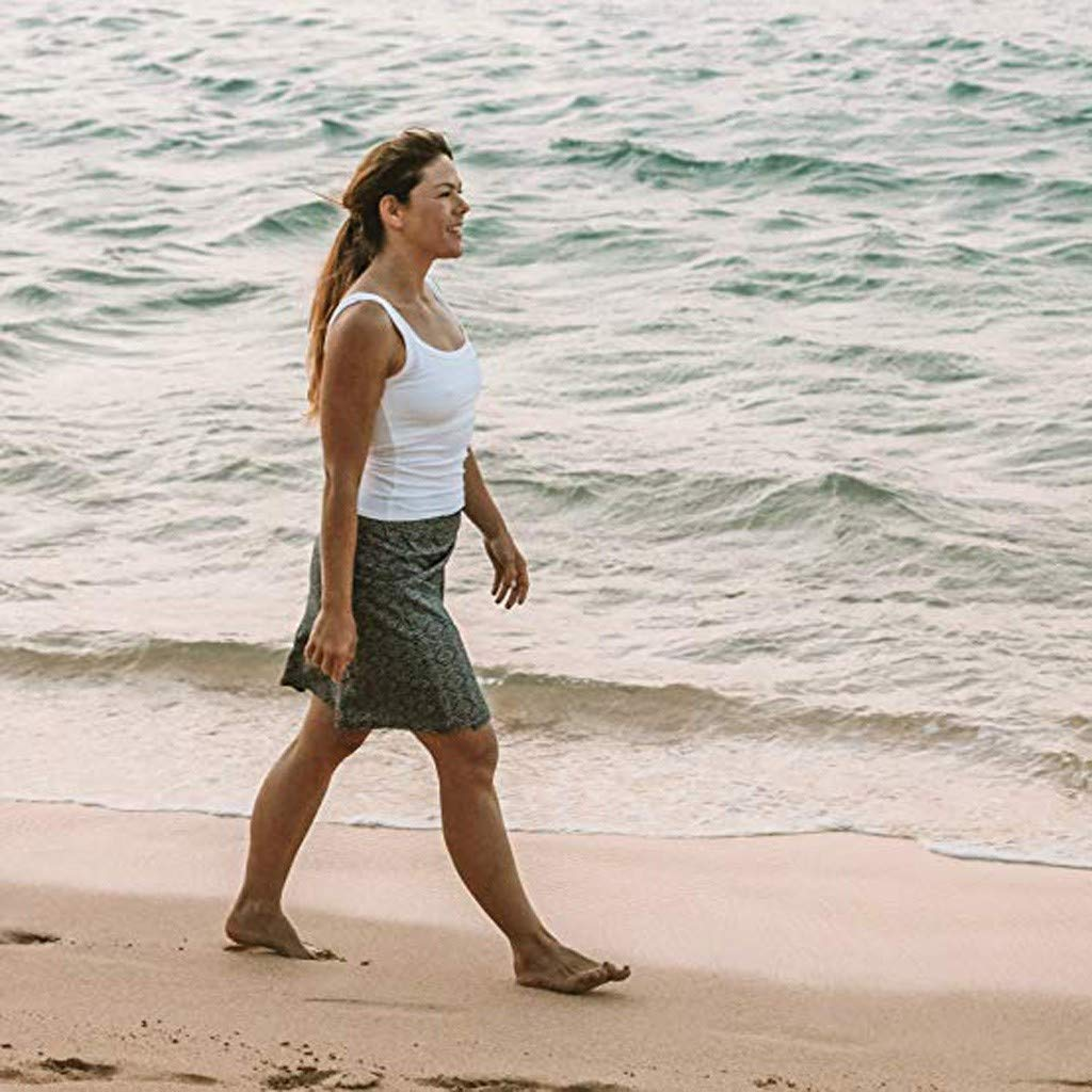 Clearance! Sunfei Women Print Quick Wrap Bikini Cover-up Multitasks Travel Lady Beach Summer Skirt (Black, Large) by Sunfei_Women Swimwear (Image #4)