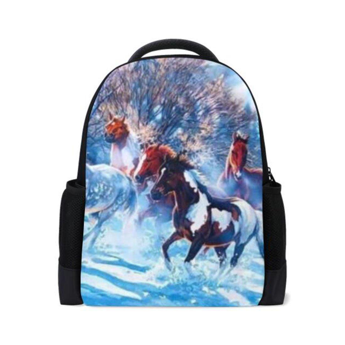 Amazon.com: Diseño de caballo abstracto mochila escolar ...