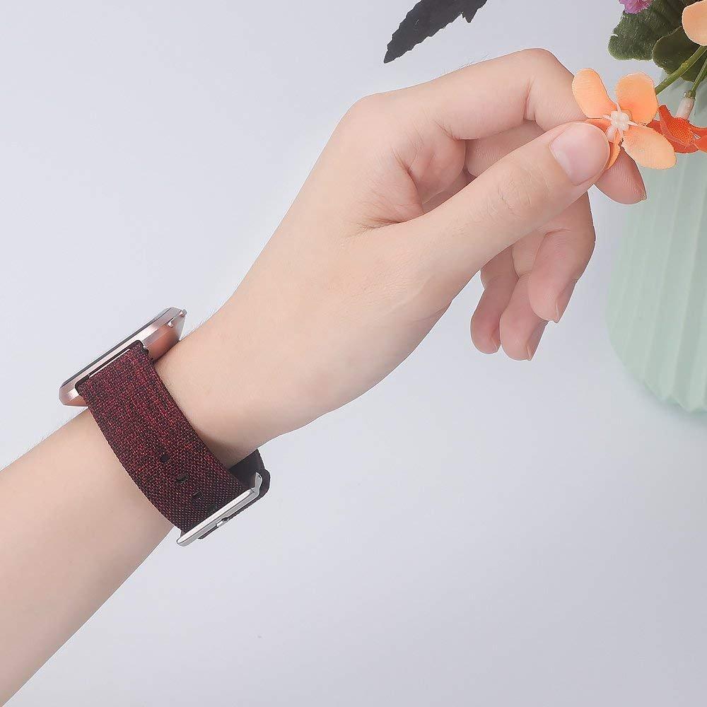 R/églable Remplacement Bandes pour Fitbit Versa Fitness Smartwatch KIMILAR Compatible avec Fitbit Versa Bracelet Lib/ération Rapide Nylon Bracelet de Montre avec Acier Inoxydable Fermeture