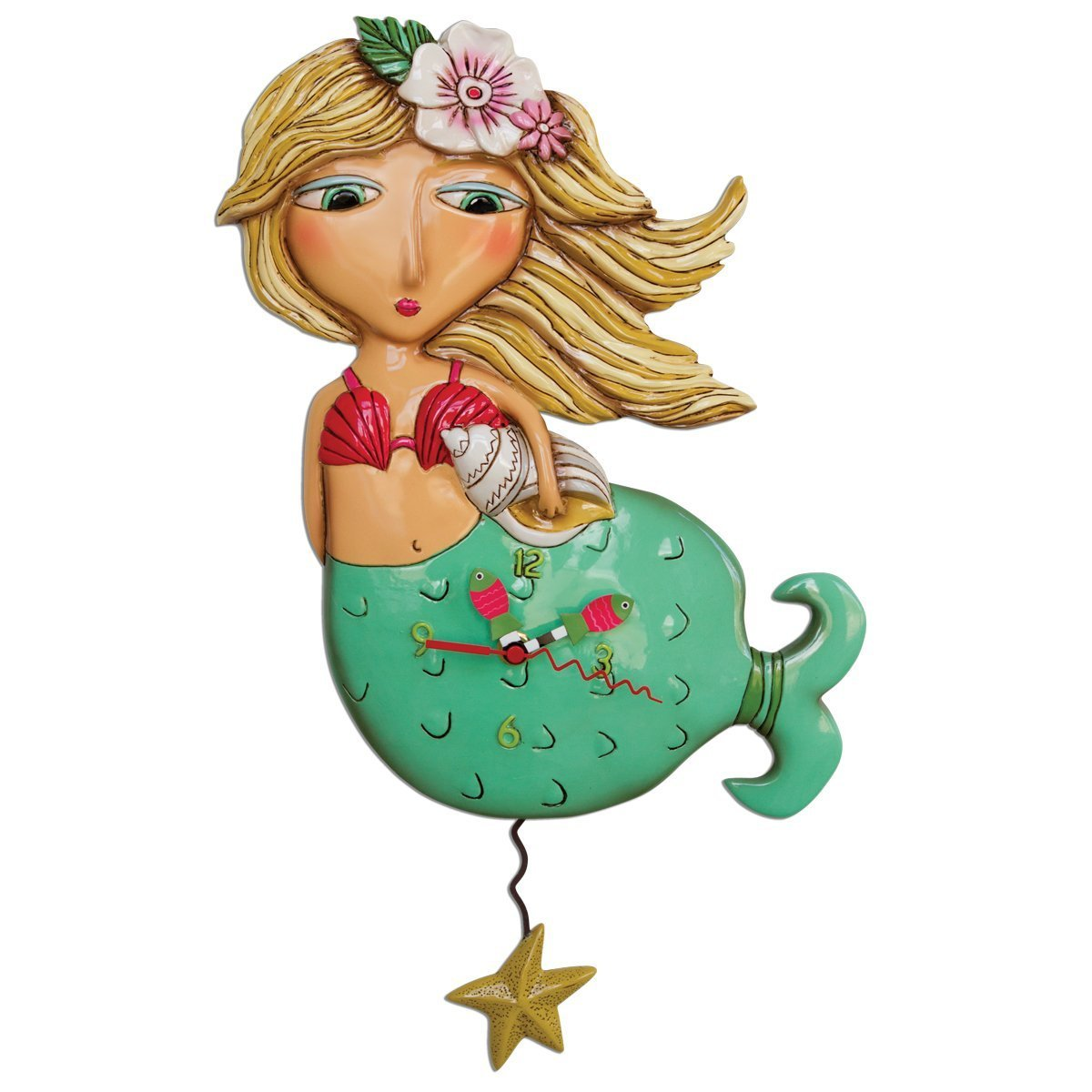 Allen Designs Shelley Mermaid Pendulum Clock