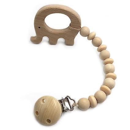 Coskiss Mordedor madera Animal Clip Clip soothie Cuentas de ...
