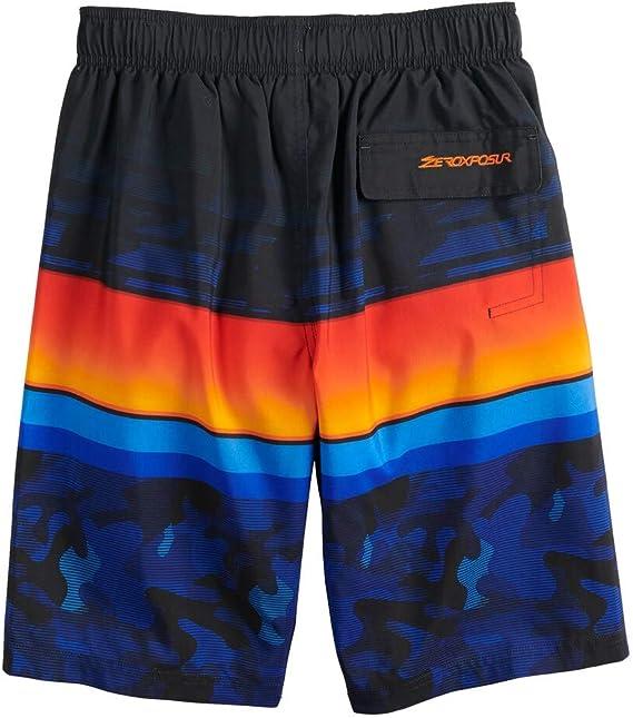 ZeroXposur Boys Swim Trunks Beach Pool Surfing Board Shorts 8-20