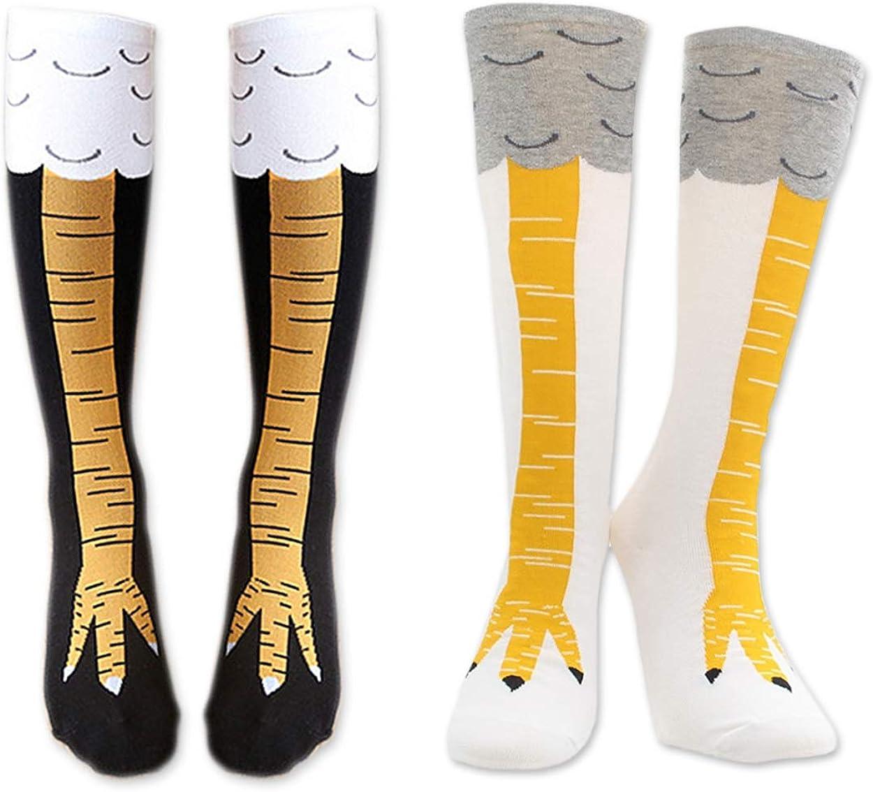 DS. DISTINCTIVE STYLE Women Chicken Leg Knee High Cotton Socks Size M