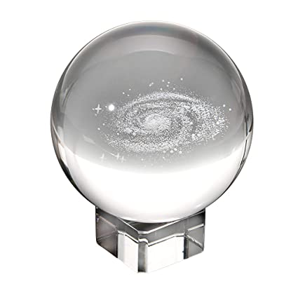 amazon com ownmy galaxy crystal ball glass sphere display globe