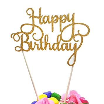 Amazoncom Happy Birthday Cake Topper First Birthday Cupcake
