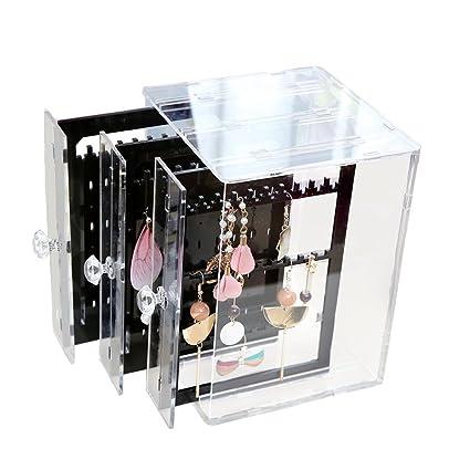 Amazoncom Moombike Acrylic Jewelry Storage Earring Display Chest
