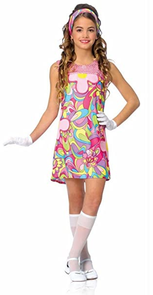 Groovy Girl Child Large 60s 60u0027s Retro Party Outfit Costume  sc 1 st  Amazon.com & Amazon.com: Groovy Girl Child Large 60s 60u0027s Retro Party Outfit ...