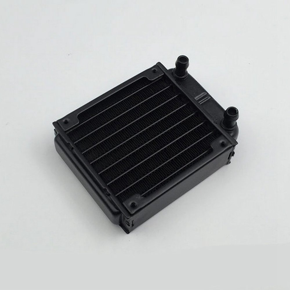 GAOHOU 80mm Aluminum Heat Exchanger Computer Radiator Water Cooling Cooler Fans for PC CPU Heatsink CO2 Laser Water Cool System Computer