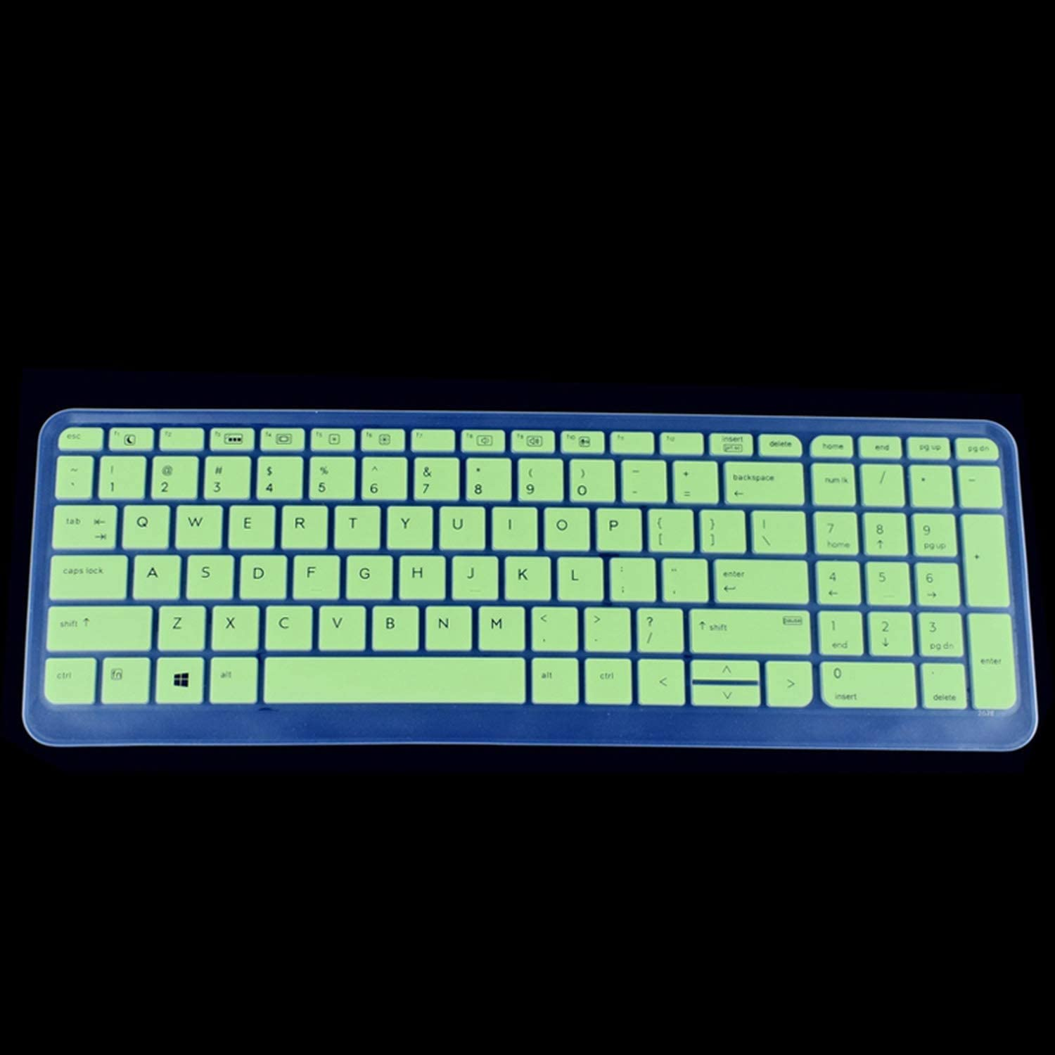 450 G3 G4 G5 455 G3 i5 i7 15.6 inch Silicone Keyboard Cover Protector-Green for HP PROBOOK 650 G2 G3 G4
