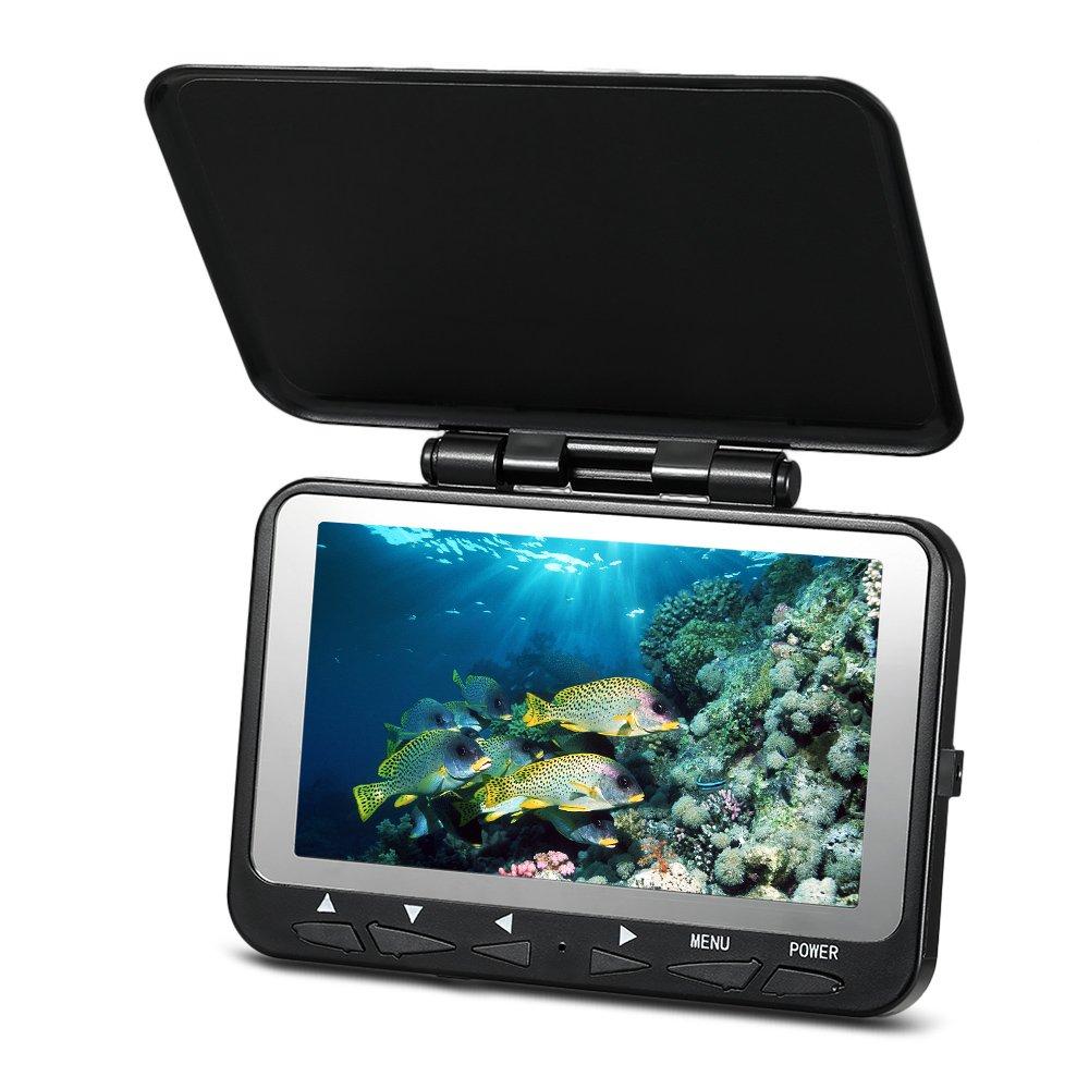 Lixada 魚群探知機,水中釣りカメラ, 1000TVL魚ファインダー水中氷釣りカメラ4.3