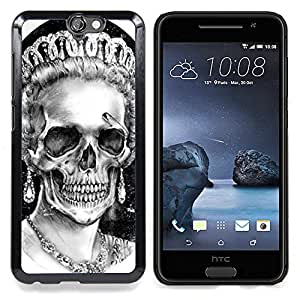 - Queen Crown White Black Skull Dead - - Snap-On Rugged Hard Cover Case Funny HouseFOR HTC ONE A9