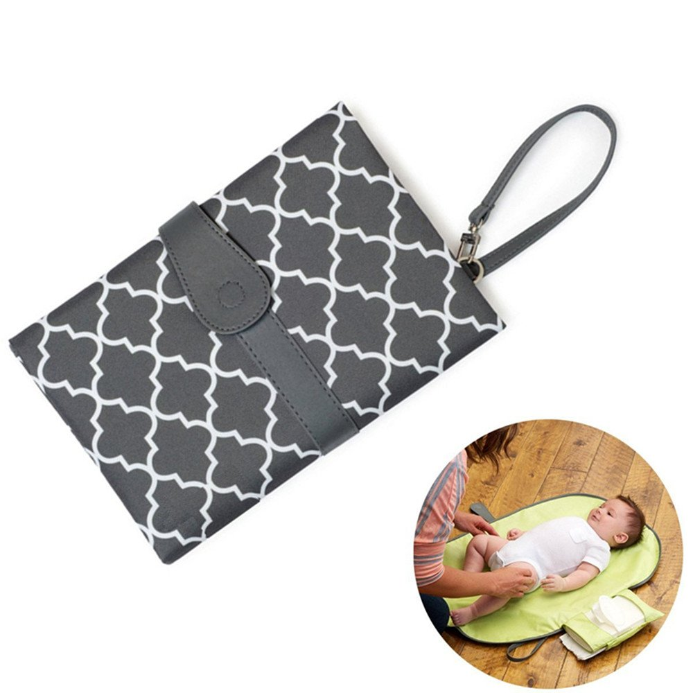 Baby Changing Mats, HOMCA Waterproof Portable Folding Travel Changing Pad with Storage Pockets for Baby Wipes Diapers Accessories (Black)