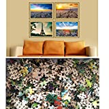Sim,20.6 X 15.1 inch Jigsaw Puzzle Games We Played 500 Piece Made of Premium Basswood DIY Present in Box Present Wrap Room Mural:Mountain Resort Winter