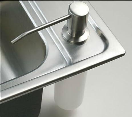 New Deck Mount Brushed Nickel Soap Dispenser Kitchen Sink Liquid Soap  Dispenser Bottle Promotion