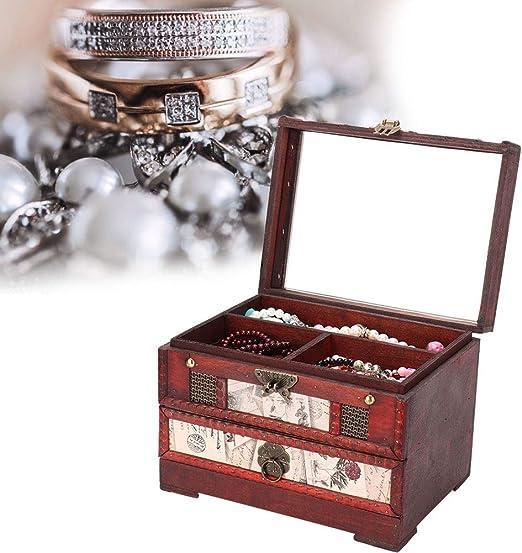 Zouminyy Caja de Almacenamiento, Caja de Almacenamiento de Joyas ...