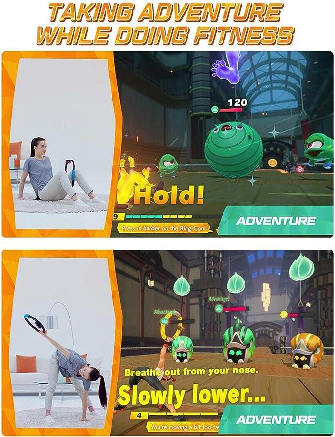 GUYUE NS-Switch Game Fitness Ring - Anillo para Nintendo Switch Adventure Juegos, Yoga Fitness Band Elástica, Sensor de movimiento: Amazon.es: Deportes y aire libre