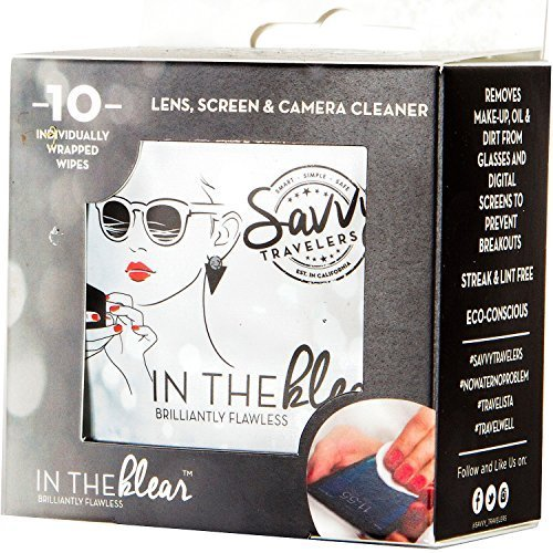 Savvy Travelers - Eyeglasses, Screens and Lens Cleaning Individual Wipes - 10 Ct - On the - Eyeglass Cleaner Lenscrafters