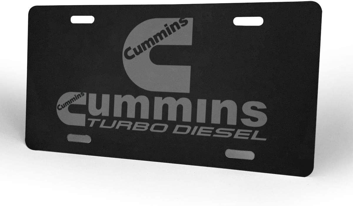 Cummins Turbo Diesel Auto License Plate Embossed Tag Customized Personalized Plate Home Pub Bar Decor Size 6 X 12