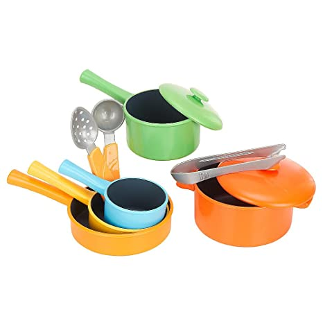 Amazon Com Just Like Home 10 Piece Everyday Cookware Set Toys Games