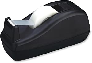 Scotch Deluxe Desktop Tape Dispenser, Black, for 1 Inch Core Tapes (C-40)