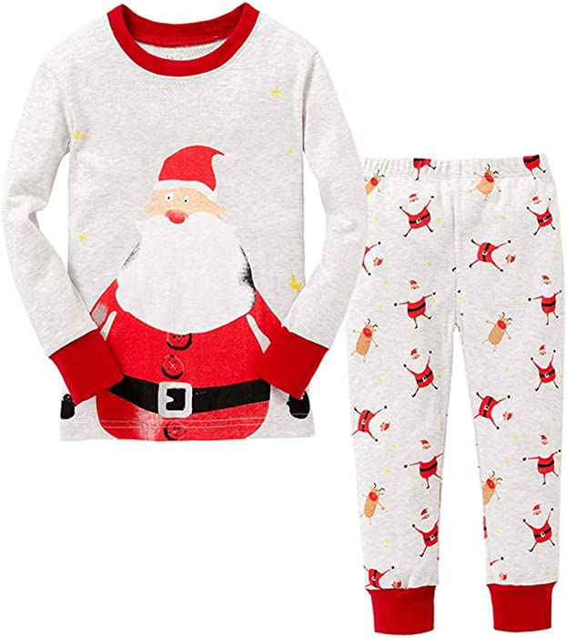61b46b633 Amazon.com  Little Boys Christmas Pajamas Santa Claus Nightwear ...