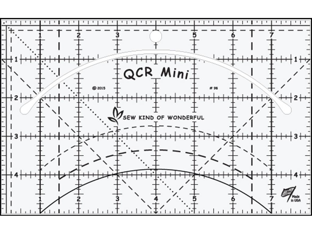 Sew Kind of Wonderful SKW98 Qcr Ruler Mini Qcr Mini Ruler