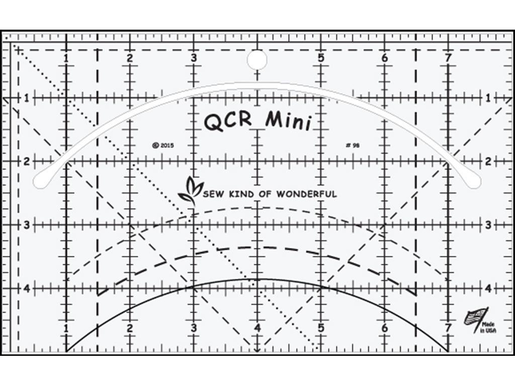 Sew Kind of Wonderful QCR Mini Ruler, Original Version by Sew Kind of Wonderful