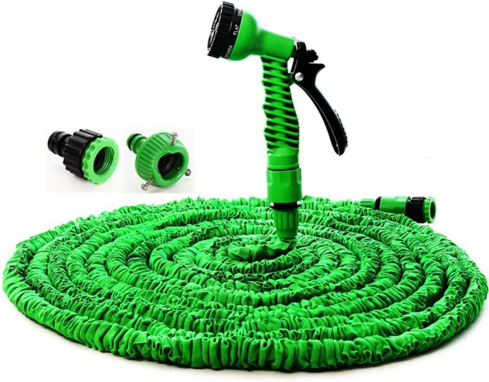 50 FT Expandable Garden Hose, Upgraded Leakproof Expandable Water Hose with Durable 3-Layers Latex and 9 Function Nozzle, Extra Strength Fabric, Best Choice for Watering and Washing