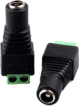 2.1 Mm x 5.5 mm DC Extensión de conector 1 M