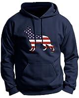 Patriotic Dog Gift German Shepherd American Flag Premium Hoodie Sweatshirt