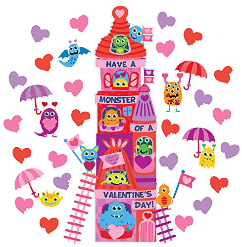 EUREKA Valentine's Day School and Classroom Door Décor Kit, 44pc -