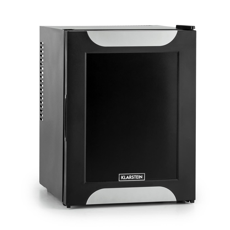 Klarstein Happy Hour Minibar Mini-réfrigérateur Réfrigérateur à boissons A+ 32 Litres env. 40 x 54 x 43 cm (LxHxP) Peu bruyant 2 étagères Noir HEA-Happy-Hour-B