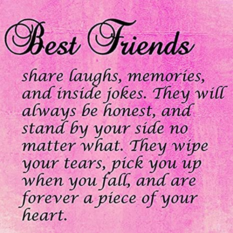 Amazon.com: Best Friends Quote 6x6 Mini CANVAS Gallery Wrap ...