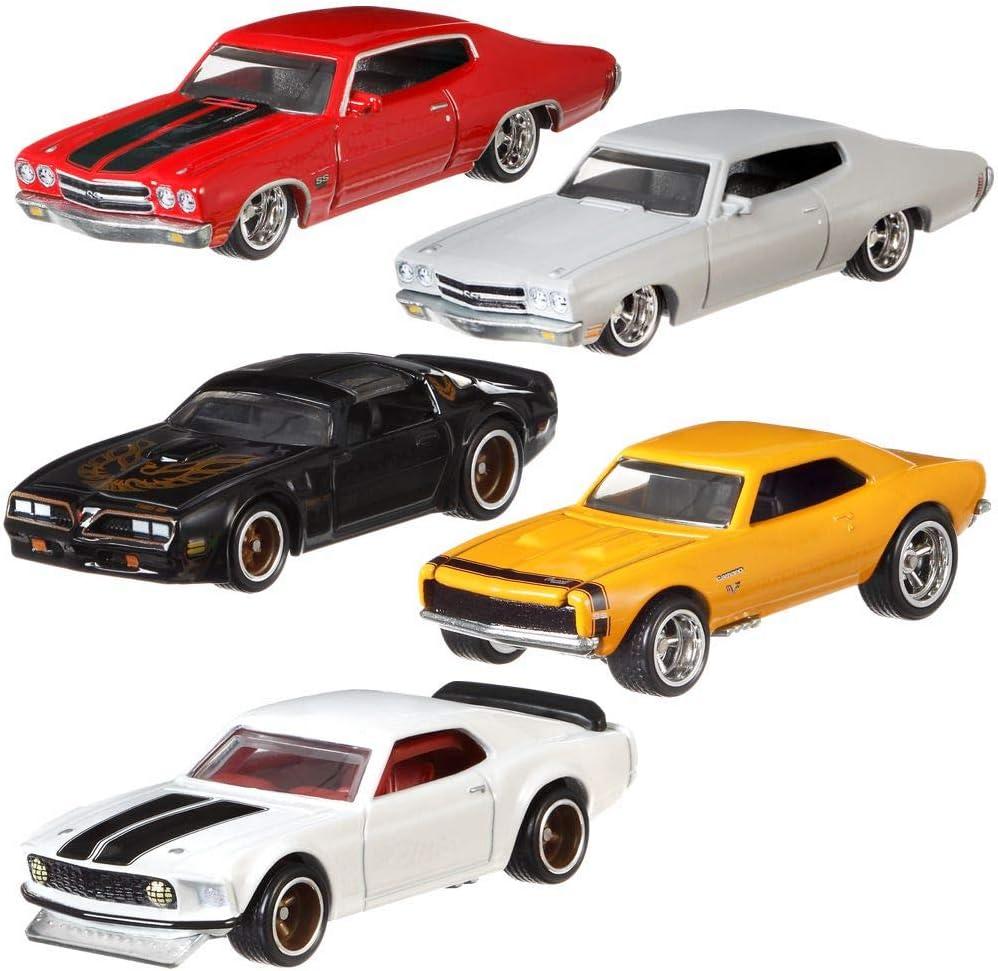 Hot Wheels Fast & Furious 1/4 Mile Muscle Premium Car Set | Coche Mattel GBW75, Vehículo:Conjunto de 5: Amazon.es: Juguetes y juegos