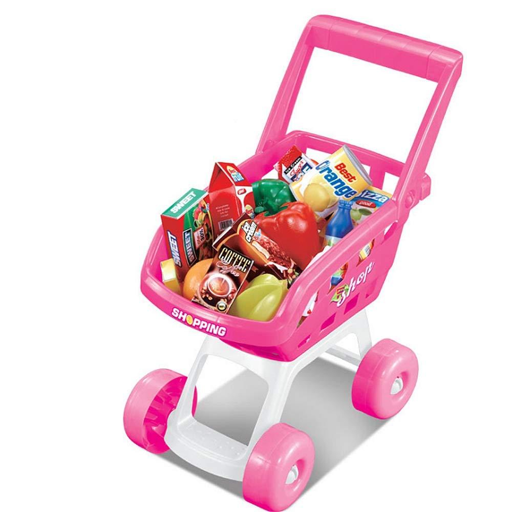 nueva marca GSCzapatos Juguetes educativos Kids Shopping Juguete Cochet 4 4 4 Ruedas CosJugar Juego de niños y niñas con Frutas Vegetales Leche Juegos Infantiles  el mas de moda