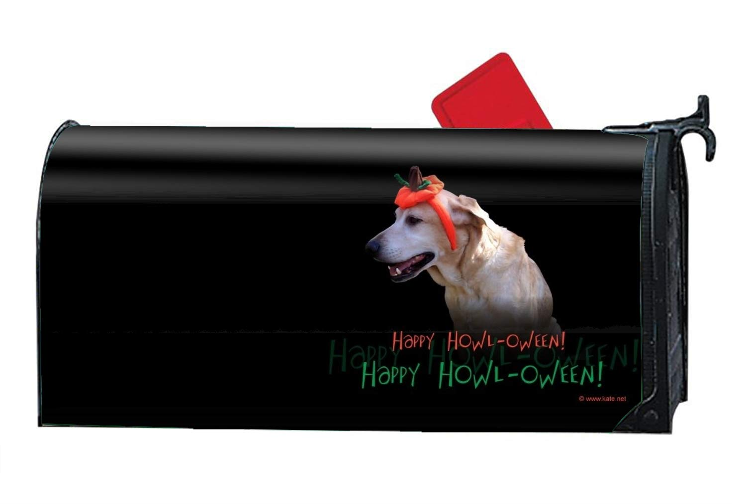 Niaocpwy Holiday Halloween Dog Mailbox Makeover Decorative Printed Magnetic Cover for Large Mailboxes