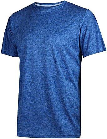 Camiseta deportiva de manga corta para hombre de Somthron, transpirable, para gimnasio y verano: Amazon.es: Ropa y accesorios