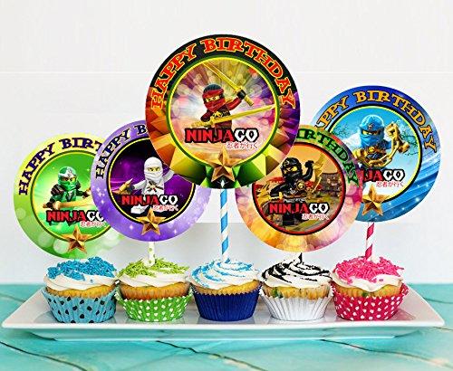 12 The NINJAGO MOVIE Birthday Inspired Party Picks, Cupcake Picks, Cupcake Toppers #1