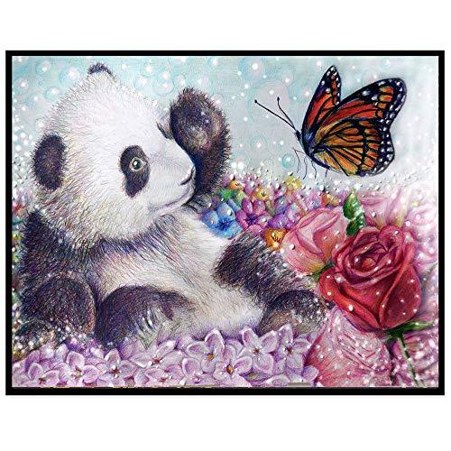 QHB Diamond Painting Christmas Decoration 5D Rhinestone Pasted Embroidery Animal Painting Cross Stitch Home Decor (B)