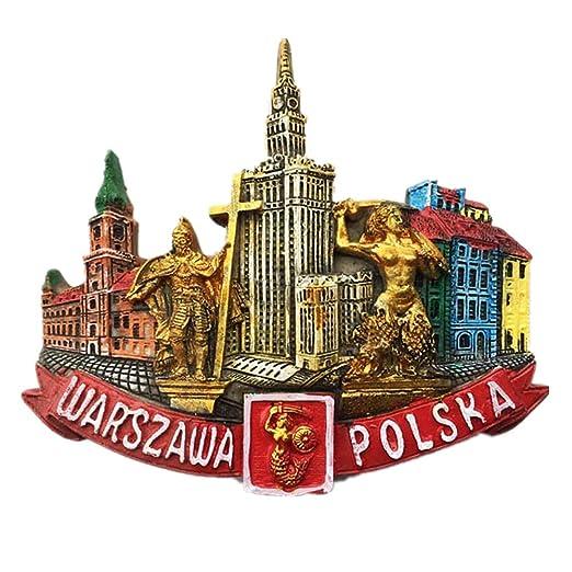 Imán para nevera con diseño de Polonia de Varsovia 3D, para ...