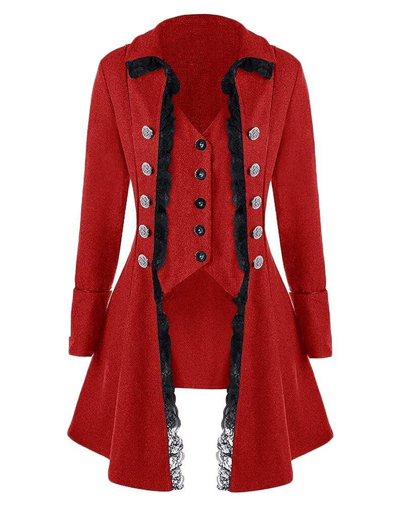 Veste Costume Steampunk Gothique Queue De Pie Manteau De Femme Manteau  Cosplay Halloween  Amazon.fr  Vêtements et accessoires 82e38c745e2