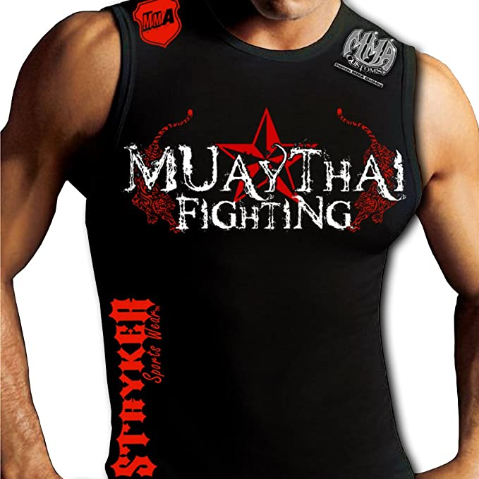 0b3fefcf Image Unavailable. Image not available for. Color: Muay Thai Muscle Stryker Sleeveless  Tank Top UFC MMA ...