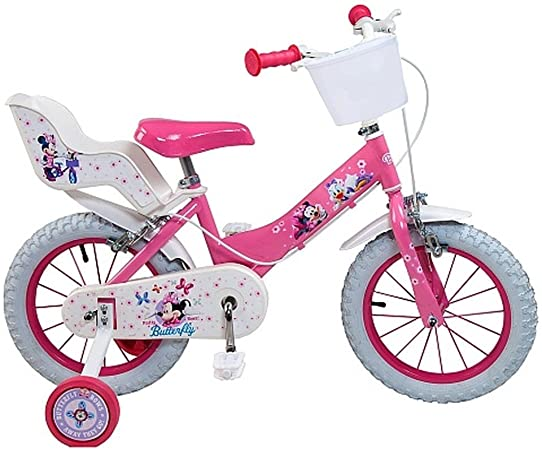 Loulomax - Bicicleta Oficial de Minnie Mouse de Disney, 14 ...