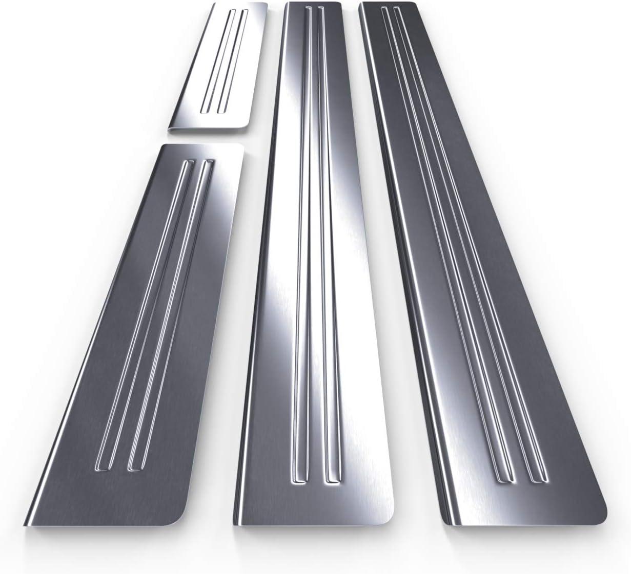 kit de 4 piezas Protectores de acero para umbral de coche 5902538682756 mate plata
