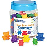Learning Resources Three Bear Family Counters, Educational Counting and Sorting Toy, Rainbow, Autism Therapy Tool, Size Aware