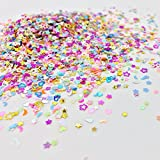 MELYTU Colorful Manicure Glitter Confetti, Mixed Shapes Size 3mm Great for Party Decorations, DIY Crafts, Premium Nail Art (3 Pack, 12000Pcs)
