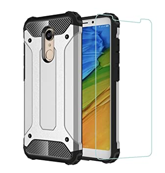 DESCHE Funda Xiaomi Redmi 5 Plus Hard PC Soft TPU 2 en 1 360 Armadura Protectora
