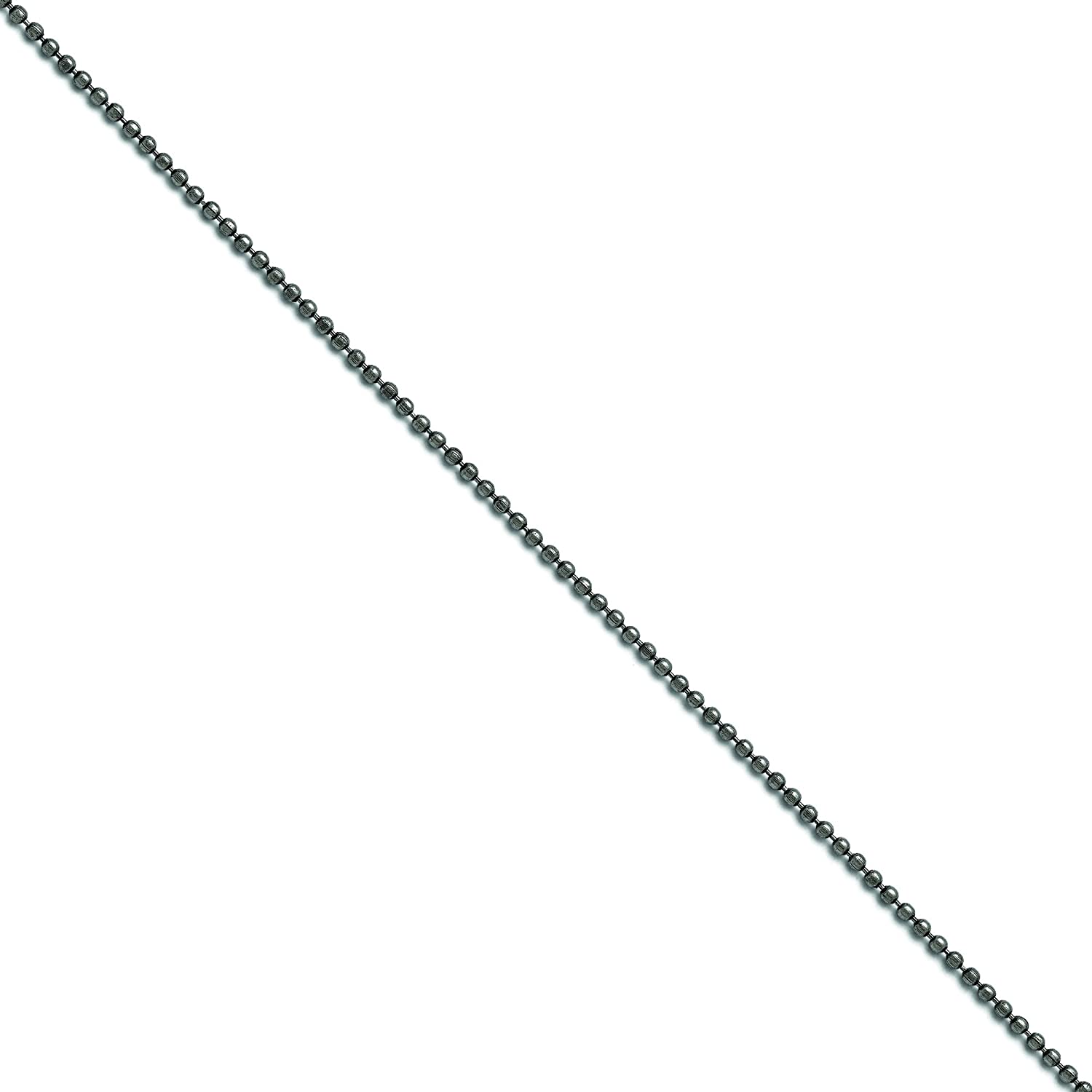 Shop4Silver Stainless Steel 2.00 Mm 18 Inch Beaded Ball Antiqued Chain