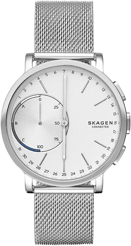 Skagen Reloj Unisex de Analogico con Correa en Chapado en Acero Inoxidable SKT1100